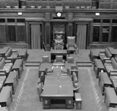 Image of the Senate Chamber, Parliament House.